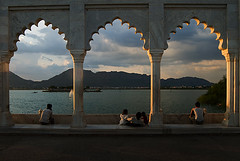 Tourists enjoying the views of Aravali range from Anna Sagar Lake, Ajmer, Rajasthan, India (Jitendra Singh : Indian Travel Photographer) Tags: travel sunset india water arches tourists hills rajasthan ajmer visiters jiten jitendra aravalli jitender annasagar jitendrasingh indiaphoto bestphotojournalist wwwjitenscom gettyphotographer bestindianphotographers jitensmailgmailcom wwwindiantravelphotographercom famousindianphotographer famousindianphotojournalist gettyindianphotographer