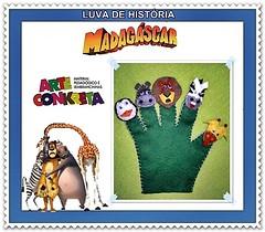 luva de história MADAGASCAR (ARTE CONKRETA) Tags: feltro madagascar lembrancinha arteconkreta luvadehistória
