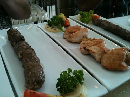 Beef, Chicken Mast and Lamb Kebab