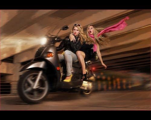 OMG ~ Crazy Blonde Bikers !!