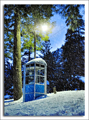 i want to use my lifeline (Kris Kros) Tags: california ca trees winter vacation usa house mountain snow tree gabriel electric pine photoshop booth photography high san mt phone dynamic post phonebooth touch snowstorm mount kris snowing range 2009 hdr kk kkg cs4 krisk photomatix kros kriskros 5xp malby snowbooth kktouch kkgallery