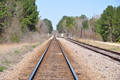 Looking North (fromky) Tags: railroad usa vanishingpoint texas tx tracks walkercounty newwaverly dsc0025 scavenger7 ansh0209