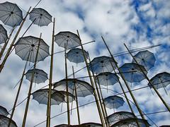 Flying Umbrellas (ptg1975) Tags: sky art clouds hellas greece macedonia thessaloniki umbrellas τέχνη makedonia ελλάδα σύννεφα kartpostal θεσσαλονίκη anawesomeshot diamondclassphotographer flickrdiamond ομπρέλα ουρανόσ μακεδονία ομπρέλεσ