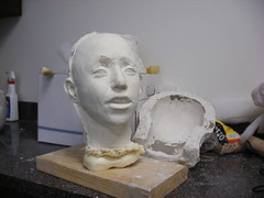 """Step 14 - Making Face Casts for """"Marie"""" (Houston Ballet) Tags: ballet marie dance theater arts culture houston cast tomboyd production marieantoinette props beheading guillotine brianwalker houstonballet jessicacollado stantonwelch kellymyernick"""