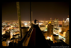 everest (s o u t h e n) Tags: city nightphotography roof urban canada night nikon downtown nightshot ryan michigan detroit wide sigma wideangle urbanexploration windsor d200 1020mm 2009 detroitriver comerica penobscot ue stott rencen renaissancecenter urbex detroitmichigan downtowndetroit guardianbuilding penobscotbuilding comericatower washingtonboulevard stottbuilding urbanexplorers sigma1020 nikond200 southen ryansouthen gmrencen gmrenaissancecenter onaroof onedetroitcenter