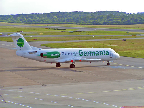 Germania Fokker at Hamburg International Airport by UweBKK (? 550 on ?)