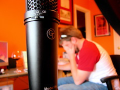 The Mic and the Ben (justinkellerislame) Tags: microphone frustration recording groovetubes ribbonmic
