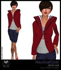 [MG fashion] NauticalCoat.short.red