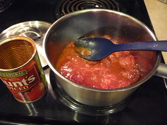 Dump a can of diced tomatoes