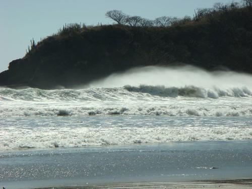 Waves at the Playa El Remanso, Nicaragua.
