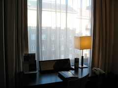 Inspiring Corner (blind_donkey) Tags: window lamp finland hotel helsinki desk business curtains suite crownplaza lookingout otw