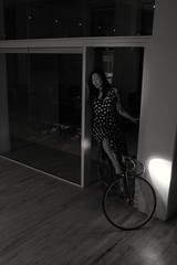 a-team outtake (mplsminx) Tags: bicycle lights office highheels minx fixedgear headlight cherrybomb niterider