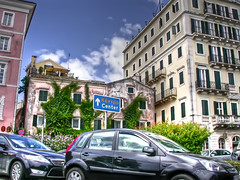 Corfu city centre (Faddoush) Tags: city travel nikon traffic centre hellas greece corfu kerkyra hdr faddoush