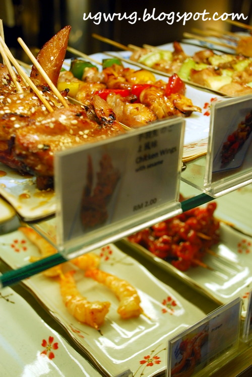 Skewers on display