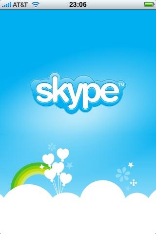 Skype for iPhone splash screen
