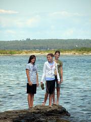 Teens at the Beach (WELS.net) Tags: trees girls sky people lake beach water rocks teens streams wels jweiss
