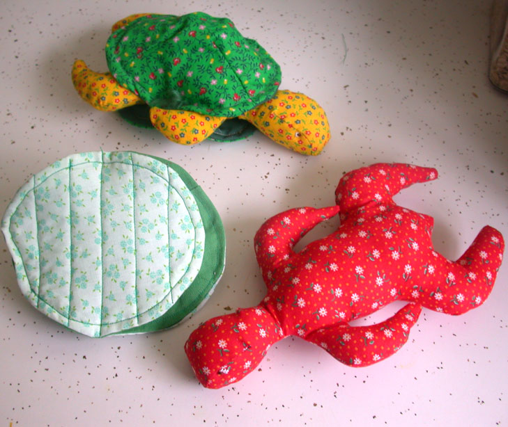 turtles coming out of their shells