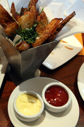 Truffle Fries with Fried Rosemary
