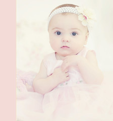 First Easter :) (Shana Rae {Florabella Collection}) Tags: pink portrait baby flower girl easter pretty dress daughter first honey tuesday sasha tulle lili headband ppt florabella lilyblue shanarae