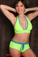 neon green two-piece by FABE