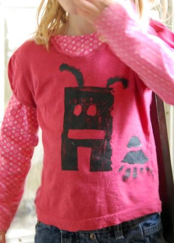 robot freezer paper t-shirt