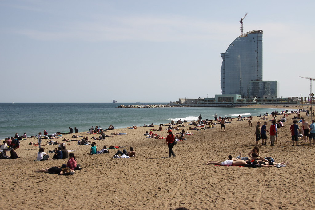 Sunny day at the beach in Barcelona by Erwyn van der Meer, on Flickr