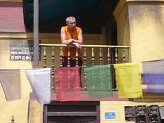 Swayambhunath, Katmandu, Nepal (balavenise) Tags: nepal shrine god buddha prayer religion buddhism katmandu prayerflag moine swayambhunath prire devnagari  flickrgiants