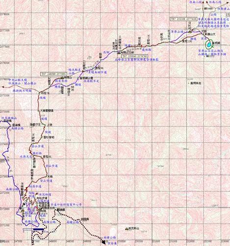 嘉明湖GPS 軌跡圖