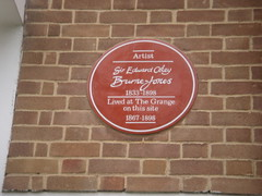 Photo of Edward Burne-Jones red plaque