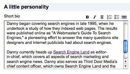 Adding A Bio To Google Profiles