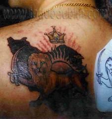 55326496e iran lion tattoo (tattoodublin.com) Tags: ireland dublin irish black tattoo  lion
