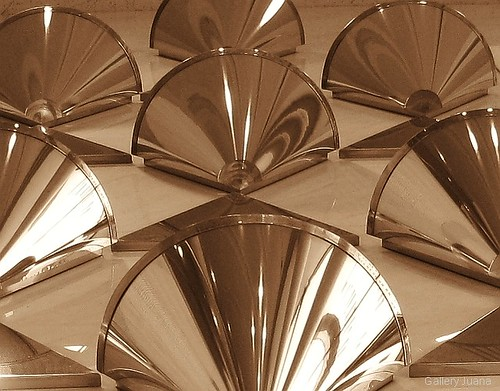 Metallic Cones that look like Fans