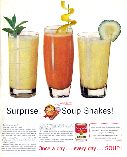 Vintage Ad #806: Surprise! Soup Shakes!