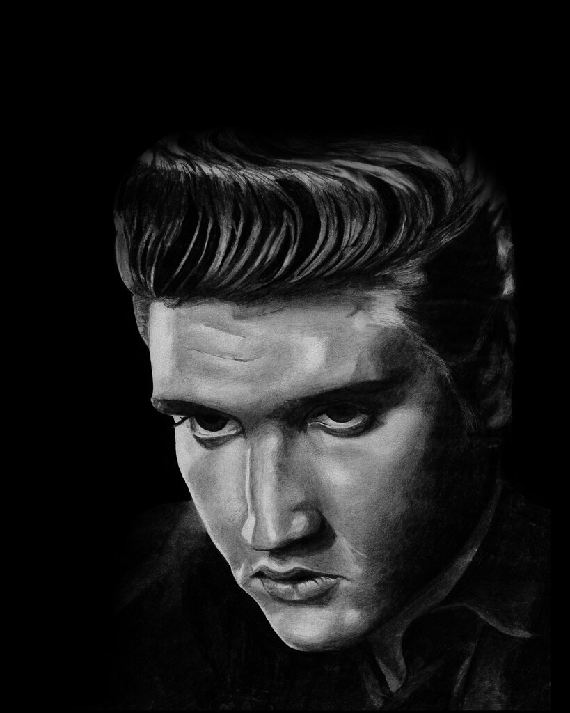 Elvis Presley Portrait Illustration