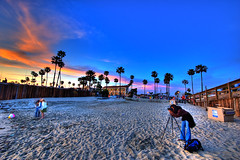 NB HDR (DaveReichert) Tags: sky clouds sand nikon d70s newportbeach palmtrees hdr