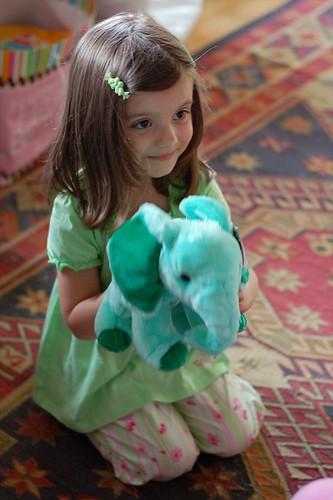 Green elephant.