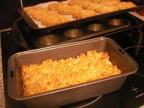 Banana Crumble; Oat Cookies