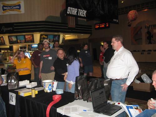The Stir Trek registration team