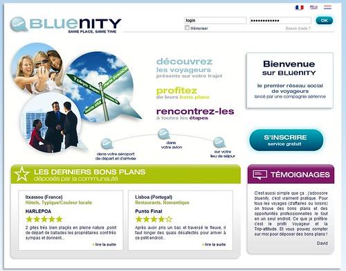 Bluenity Réseau social en concurrence avec Dopplr