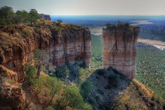 Chilojo Cliffs and Pinnacle in HDR - Gonarezhou N/P, Zimbabwe (hannes.steyn) Tags: africa mountain nature water canon landscapes scenery rocks rivers zimbabwe hdr reserves pinnacle 3xp 450d gonarezhou canon450d hannessteyn runderiver eosdigitalrebelxsi canonefs1855mmf3556isusm chilojocliffs