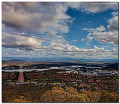 Canberra From Top Of Mount Ainslie :: Vertorama (Sam Ili) Tags: bridge blue light sky panorama sun lake color building vertical clouds canon blues australia mount canberra hdr topaz ainslie explored 450d redbubble vertorama canon24105mm4