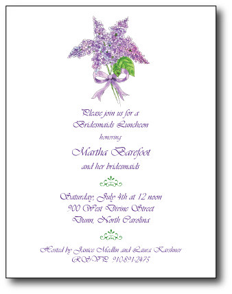 Lilac Bridal Shower Invitation por julianabreeze.