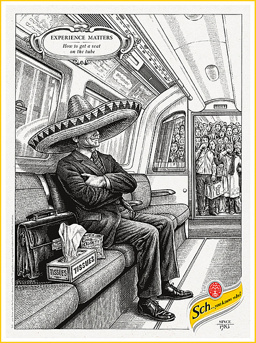 How to get a seat on the Tube Schweppes campaign