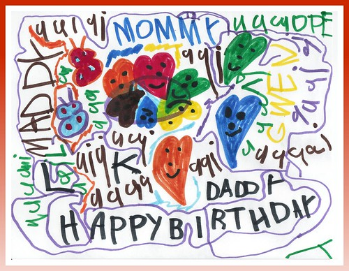 Maddy made daddy a card