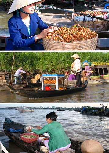Cai rang floating market, Can Tho Vietnam