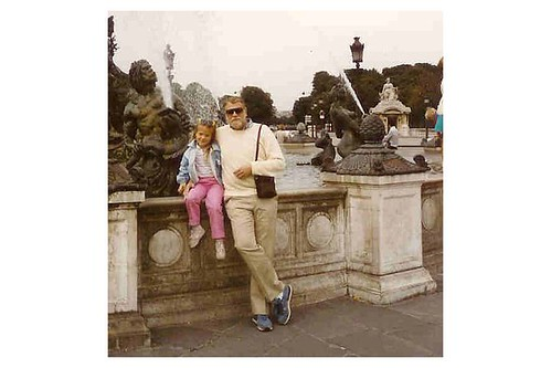 The author and her father, Paris, ca. 1984