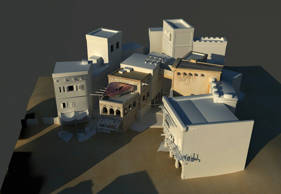 saladin city - textur test