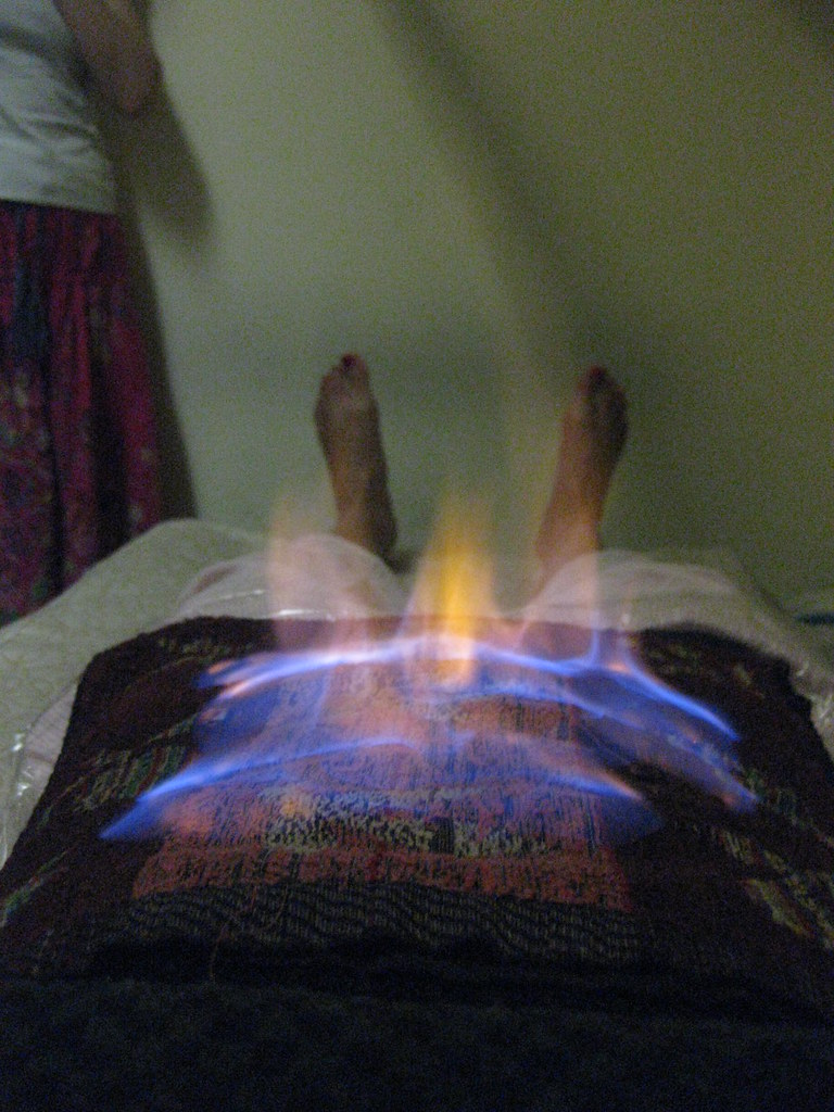 How to perform stomach fire Burning -  - shit watch these flames from my POV - freaking scarrrry!