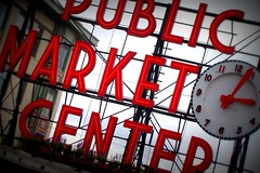 WA - Seattle - #4 Pike Place Market - Rotates & Picnik Lomo-ish Effect (scott185 (the original)) Tags: seattle washington wa pikeplacemarket picnik invert lomoish boost rotate publicmarketcenter flickrgolfclub