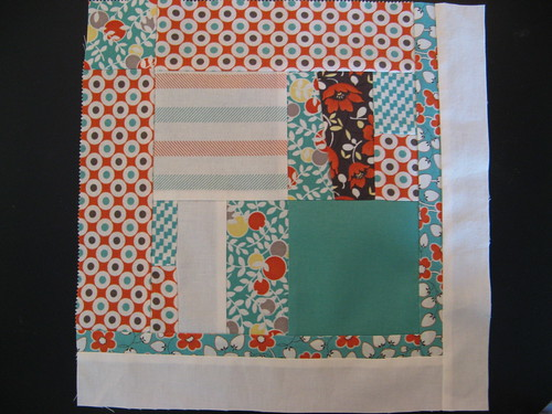 Improv block for July Block for Bee Modern